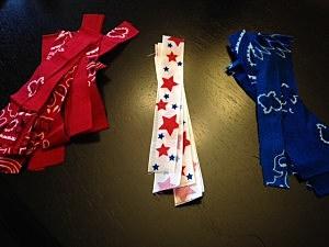 How to make bandana flip flops
