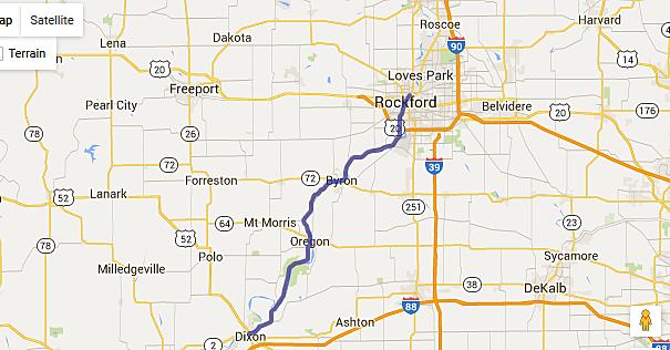 Scenic Northern Illinois Summer Motorcycle Trips - Map of northern illinois
