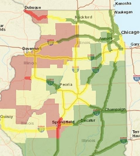 Road Conditions For Rockford Northern Illinois And Wisconsin - Map of northern illinois