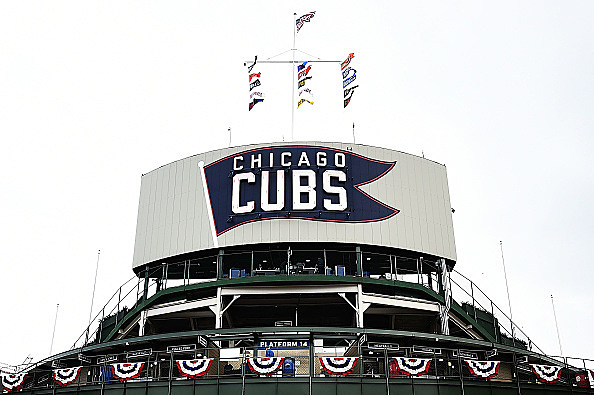 at Wrigley Field on April 10, 2017 in Chicago, Illinois.