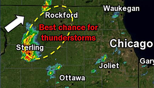 Severe Thunderstorm Warning Issued For Rockford and Freeport Areas