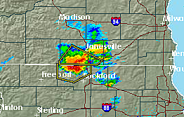 Severe Thunderstorm Warnings Issued For Rockford and Freeport Areas