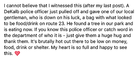 DeKalb Police Officer Goes Above and Beyond the Call of Duty To Help A Man in Need