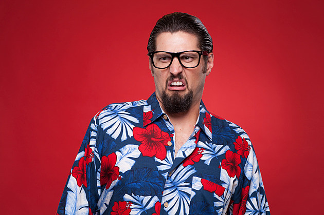 Man Wearing Schnazy Shirt