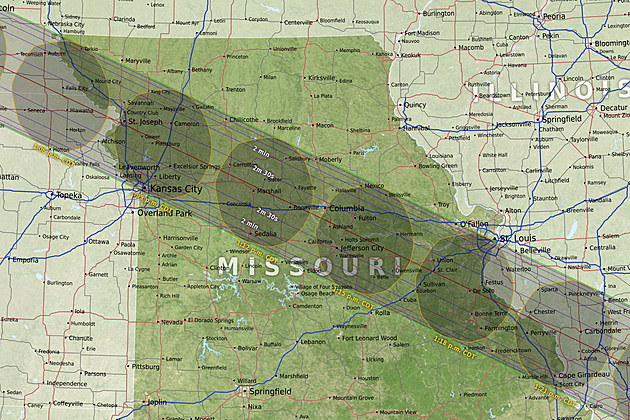 Detailed Illinois Maps Of Path Of The Solar Eclipse Released - Map of illinois and missouri