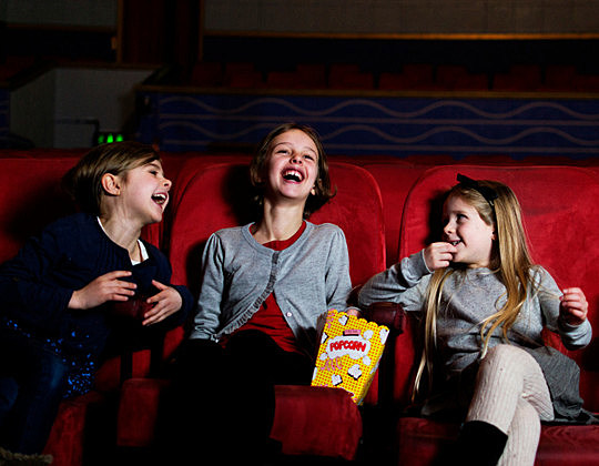 Laughing in the cinema