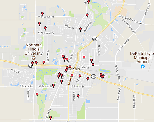 Rockford Area 2017 Sex Offender Halloween Safety Map:  Where NOT to Trick-Or-Treat