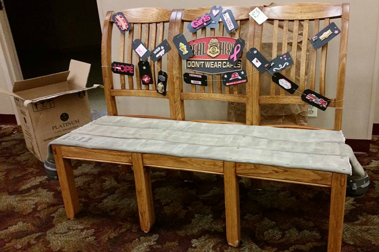 Pink Party Bench